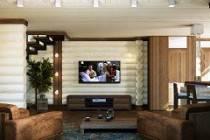 Интерьер гостиной в доме из оцилиндрованного бревна - какой выбрать