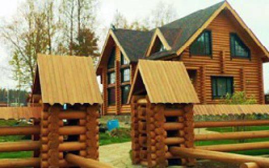 Изготовление домов из оцилиндрованного бревна в России