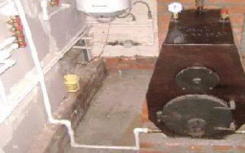 Самодельный котёл для водяного отопления на дровах