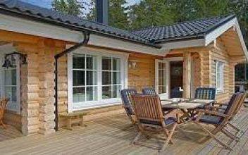 Одноэтажные дома из оцилиндровки: простота конструкции
