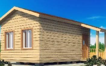 Одноэтажный дом из бруса 6х4 для дачи