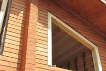 Оконные проёмы в деревянном доме: окосячка
