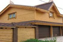 Особенности постройки гаража из оцилиндрованного бревна