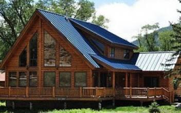 Загородные деревянные дома с панорамными окнами