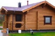 Проектировка и строительство частного дома и бани из оцилиндровки 6 × 8 м