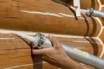 Шовный герметик - утепление швов герметиком в деревянном доме