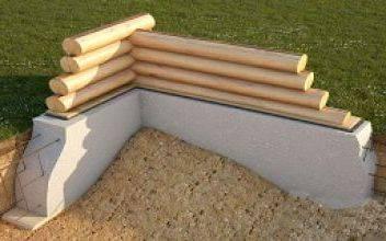Какой нужен фундамент под деревянный дом из оцилиндрованного бревна