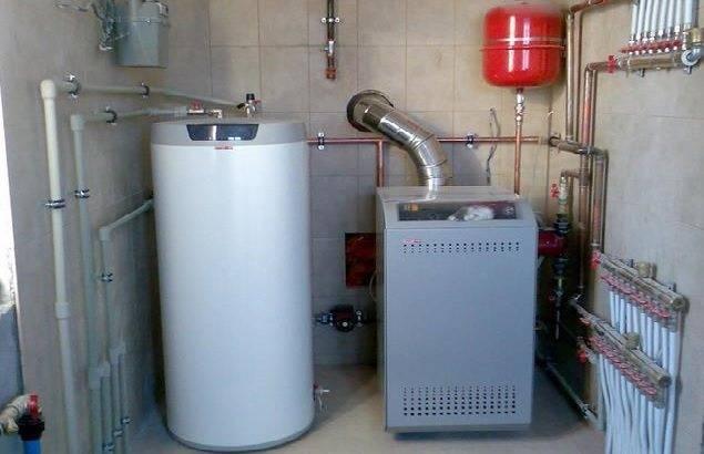 Напольный газовый котёл для дома