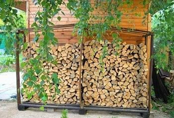 Навес для хранения дров