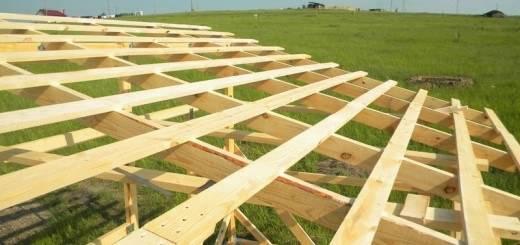 Обрешётка односткатной крыши