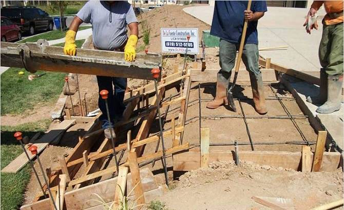 Опалубка бетонного крыльца
