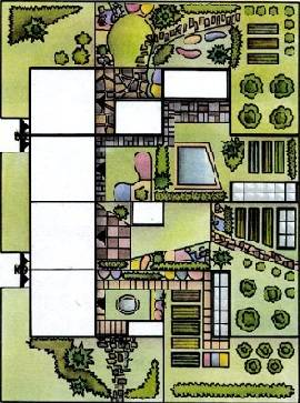 План участка на две семьи