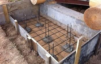 Подготовка к заливке фундамента