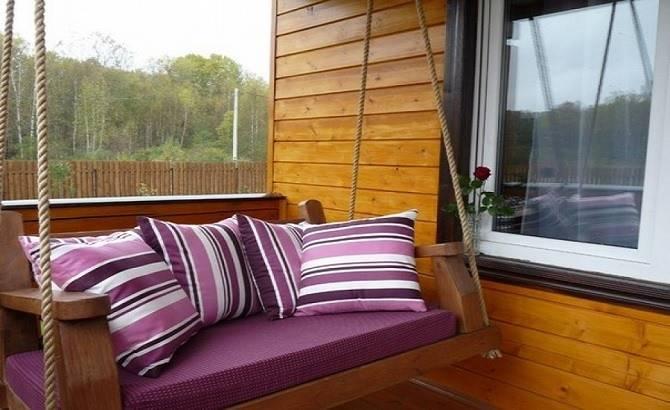 Подвесной диван для веранды