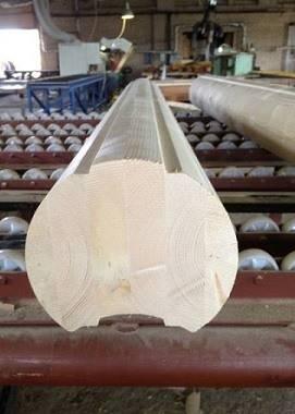 Производство клеёного оцилиндрованного бревна