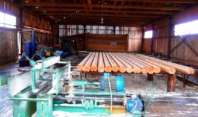 Производство оцилиндрованного бревна в Орле