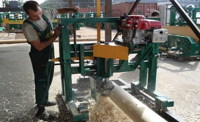 Производство оцилиндрованного бруса