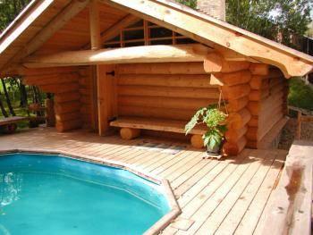 Расположение гостевого дома с баней