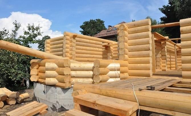 Строительство бани из оцилиндровки в Орле