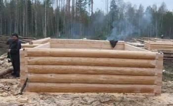 Строительство бревенчатой бани