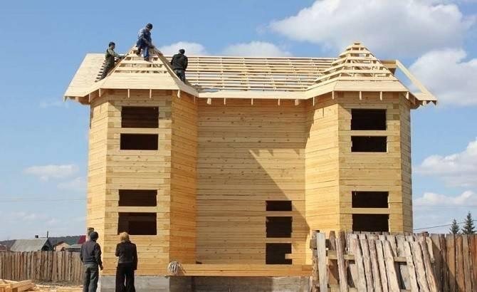 Строительство дома из оцилиндрованного бревна в Самаре
