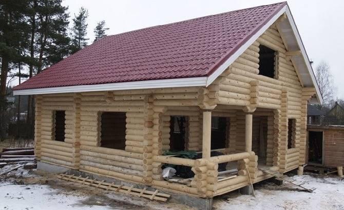 Строительство дома из оцилиндровки