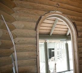 Установка арочного окна