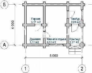 Вариант проектировки бани