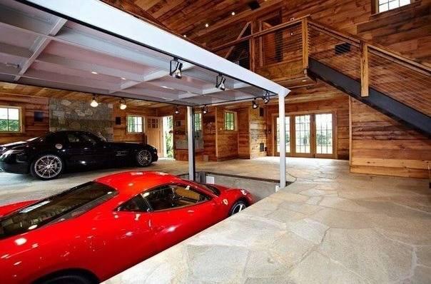 Варианты интерьера дома с гаражом