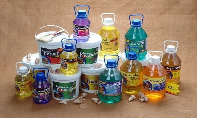 Выбор химикатов для обработки древесины