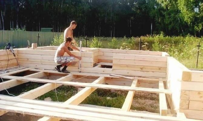 Возведение коробки дома из бруса