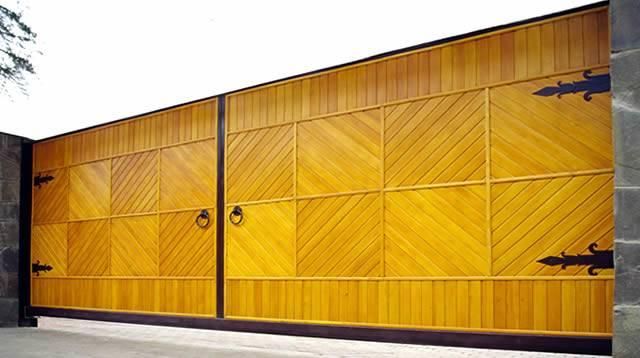 ворота деревянные распашные гост